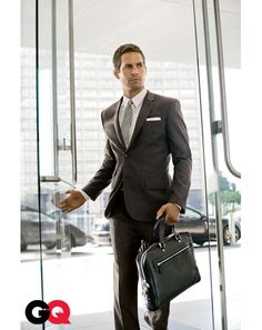 Dark grey suit. Paul Walker.
