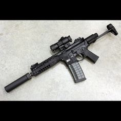 LWRC rifle with magnified optic, suppressor, and carbine stock Weapons Guns, Guns And Ammo, Glock Guns, Zombie Weapons, Tactical Rifles, Firearms, Airsoft Girls, Ar Pistol, Battle Rifle