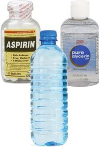 DS exclusive. bikini bumps recipe Aspirin Bikini Mask: 1 aspirin tablet, crushed � mix with a few drops of water to dissolve. Add a drop of glycerine to thicken just a bit. This allows it to stay on the skin a bit better. Rub in a circular motion with a cotton bal
