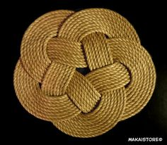 "Round Nautical Rope Doormat - Floor Mat (24"" x 24"" approx.)"