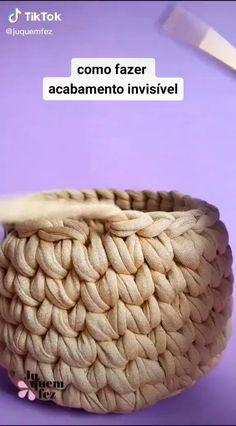 Crochet Bowl, Crochet Diy, Crochet Basket Pattern, Crochet Crafts, Crochet Projects, Crochet Patterns, Crochet Storage, Crochet Bag Tutorials, Crochet Instructions