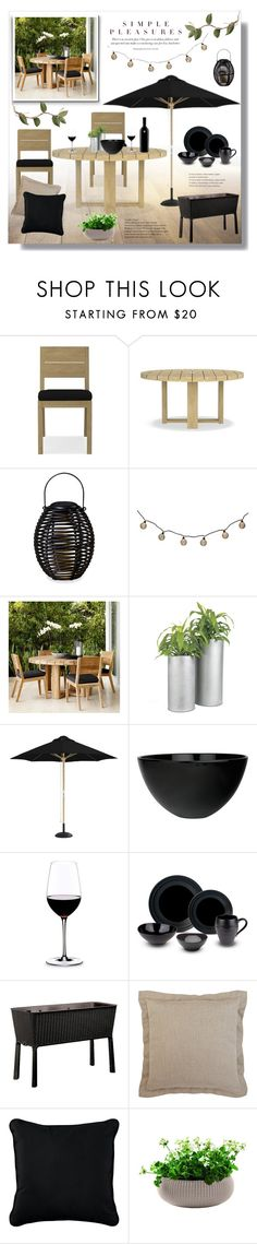 """""""Summer outdoor dinner"""" by jelenamaks ❤ liked on Polyvore featuring interior, interiors, interior design, home, home decor, interior decorating, Williams-Sonoma, Thos. Baker, CB2 and canvas"""