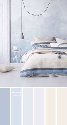 Calming Bedroom Colors, Teen Bedroom Colors, Blue Bedroom Walls, Bedroom Colour Palette, Room Design Bedroom, Bedroom Color Schemes, Room Ideas Bedroom, Home Room Design, Bedroom Decor