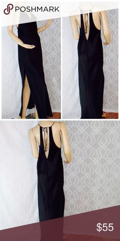 Victoria's Secret lingerie slip 100%Silk long gown New!!!with tag  Victoria's Secret unlined tide up by the neckline Very Sexy smooth 100%silk sides slit Victoria's Secret Intimates & Sleepwear Chemises & Slips