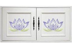 Flores-De-Lotus-estencil-Tamanho-7-W-x-7-H-reutilizaveis-Estenceis-Para-Pintura-O-Melhor-De-Parede