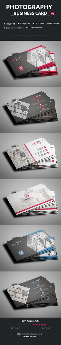 Photography Business Card Template PSD                                                                                                                                                                                 More