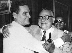 Wolfgang Larrazabal y Rómulo Betancourt. Caracas