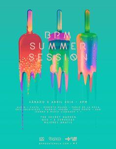Behance :: BPM SUMMER SESSION - Flyer Artwork by Jorge Letona