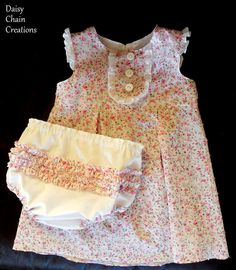 baby dress and diaper cover