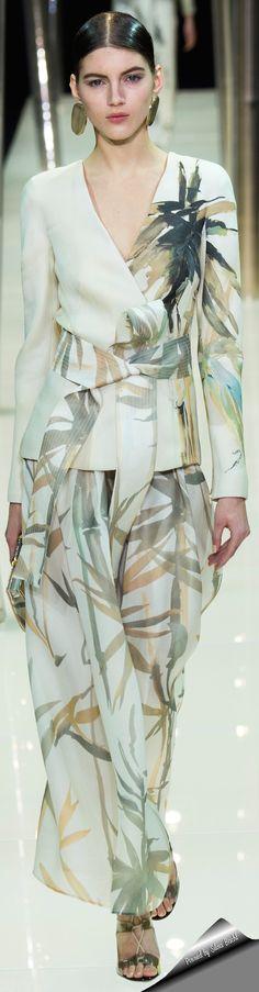 Giorgio Armani Privé Haute Couture Spring 2015.