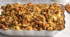 Corn Bread and Sausage Stuffing : Try corn bread stuffing at your next holiday meal. It's sure to become a family favorite. Photo credit: Eva Kosmas from Adventures in Cooking.