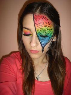 Rainbow Fantasy Makeup