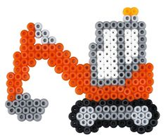 Billedresultat for beads tractor Perler Bead Designs, Perler Bead Templates, Hama Beads Design, Diy Perler Beads, Perler Bead Art, Pearler Beads, Fuse Beads, Melty Bead Patterns, Pearler Bead Patterns