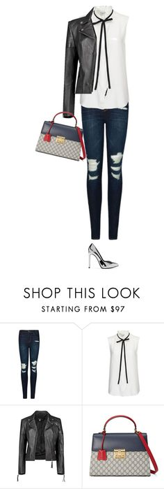 """""""Untitled #4558"""" by linda56draco ❤ liked on Polyvore featuring J Brand, Frame Denim, Boohoo, Gucci and Yves Saint Laurent"""