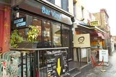Bar Vinyl, Camden Town - record store, bar and live music venue - drinks are cheap and cocktails creativee