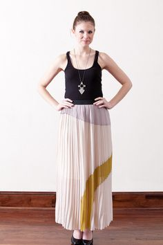 Pleated Maxi Skirt    via bloom     The day @Kendi Everyday took bloom online my sartorial dreams came true.   #perpetualwishlistexpands