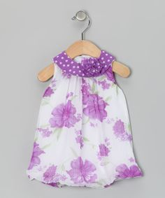 Take+a+look+at+the+Baby+Essentials+Purple+Floral+Bubble+Romper+-+Infant+on+#zulily+today!