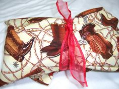 Microwave Heating Pad  Cowboy Boots Print by FransUniqueTreasures, $15.00