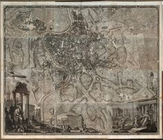 The Vintage Map Shop - Vintage Cartography Wall Decals - Touch of Modern Rome History, Arch Of Constantine, Map Shop, Ancient Buildings, Wall Maps, Antique Maps, Ancient Rome, Vintage World Maps, How To Plan