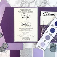 ULTRA VIOLET— the 2018 @pantone color of the year. We're thrilled about this choice! This bold color is perfect for any season . . . @waxseals #wedding #weddings #weddingseason #invite #violet #ultraviolet #COY2018 #