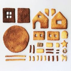 """""""Happy holidays from Things Organized Neatly! Disassembled gingerbread house submission."""" -- This one made me smile!"""