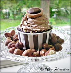 Chocolate Cupcakes with Toffifee Frosting