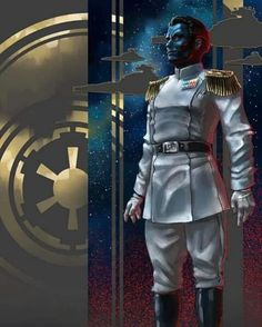Thrawn by Feivelyn on DeviantArt Nave Star Wars, Star Wars Rpg, Star Wars Rebels, Images Star Wars, Star Wars Pictures, Star Wars Concept Art, Star Wars Fan Art, Thrawn Star Wars, Sith