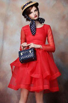 Organza Vintage Style Tiered Slim wedding party Dress TE030 plus1x-10x (SZ16-52)