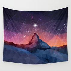 space,nebula,mountain,star,sky,purple,blue,red,