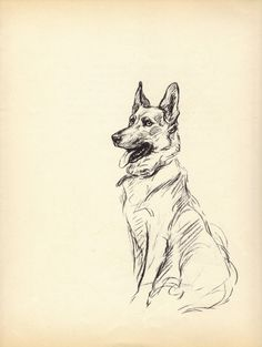 GERMAN SHEPHERD 1930s Vintage Dog Book Print Lucy by BookStyles