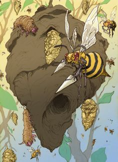 Beedrill Hive by Jared Salmond. More realistic Pokemon insects o.o I love Bug type Pokémon. Gen 1 Pokemon, Real Pokemon, Type Pokemon, Nintendo Pokemon, Pokemon Red, Pokemon Funny, Pokemon Stuff, Pokemon Realistic, Otaku