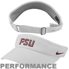 Nike Florida State Seminoles (FSU) Sideline Dri-FIT Adjustable Performance Visor - White - $23.95