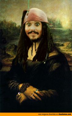 Versiones divertidas de La Mona Lisa: Jack Sparrow.