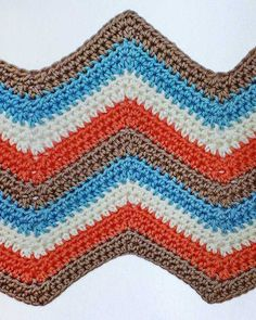 Picture of 100 Colorful Ripple Stitches To Crochet