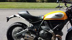 Ducati Scrambler Icon With Corbin Cafe Racer Seat