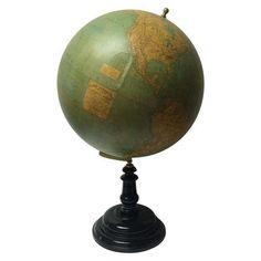 19th C. French Globe Terrestre on Chairish.com