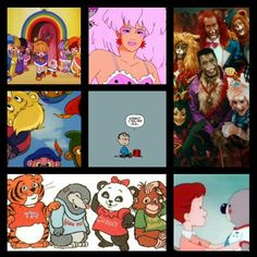 Rainbow Brite, Jem & the Holograms (& The Misfits), Zoobilee Zoo, Gummi Bears, OLD LOL, Shirt Tales, Noozles. *cjw