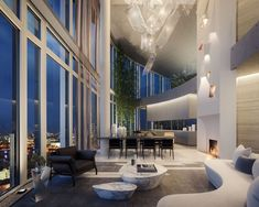 From a luxury apartment at One Hyde Park to a penthouse at the top of a skyscraper, these are among the most expensive properties on sale to the public. Penthouse London, Luxury Penthouse, Penthouse Suite, Luxury Condo, Luxury Homes Dream Houses, Dream Apartment, Penthouse Apartment, Cool Apartments, Apartment Interior Design