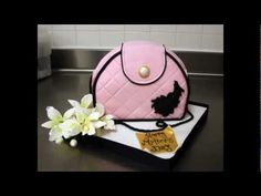 Purse Cake Tutorial by Paola Cake Attelier And it has a link to LV stencil