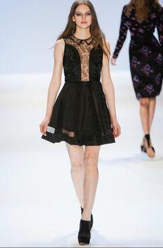 Morpheus Boutique  - Black Lace Floral Designer Sleeveless Pleated Hem Dress