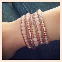 A bestseller! The Dusty Rose Wrap Bracelet #smycke #smycken #wrapbracelet #talulahlee