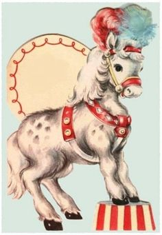 Image of Circus horse card