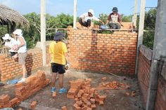 Local tradesmen will teach students and staff how to do brick laying and other necessary tasks.