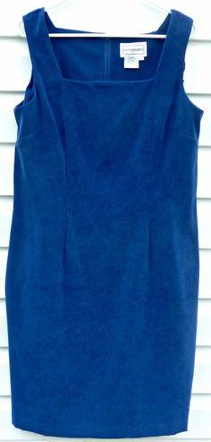 5d9d463796db5 KARIN STEVENS Dress Sleeveless Semi Formal Square Neck Midi Fitted Blue  Women