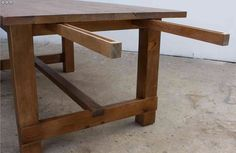 New England Farm Table in Reclaimed Wood with Extensions. $1,995.00, via Etsy.