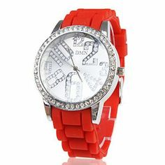 Tanboo Silicone Band Classic Big Dial Fashion Quartz Women Men Casual Watch - Red by Tanboo. $10.99. Wrist Watches. Casual Watches. Movement:QuartzDisplay:AnalogStyle:Wrist WatchesType:Casual WatchesBand Material:SiliconeBand Color:RedCase Diameter Approx (cm):4Case Thickness Approx (cm):0.6Band Length Approx (cm):23Band Width Approx (cm):1.8