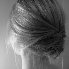 simple yet complex. Interesting hair style idea