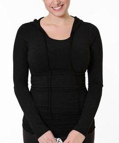 Take a look at this Black Maternity & Nursing Hoodie - Women by Peek-a-boo on #zulily today!