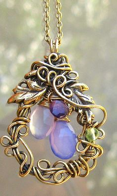 Smokey Purple Indigo Wire Wrapped Necklace | Flickr - Photo Sharing!