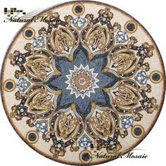 "80"" MARBLE MOSAIC MEDALLION STONE FLOOR WALL TABLE TILE 